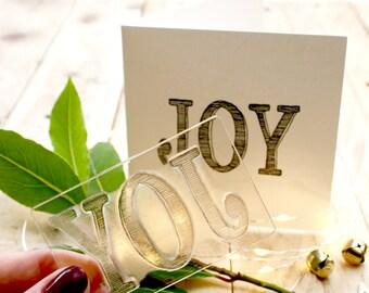 Joy Clear Stamp - Joy Gift Tag Stamp - JOY Stamp - Word Joy - Tag Stamp - Presents Stamp - Little Stamp Store - Card making