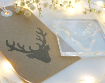 Stag - Stags Head Rubber Stamp
