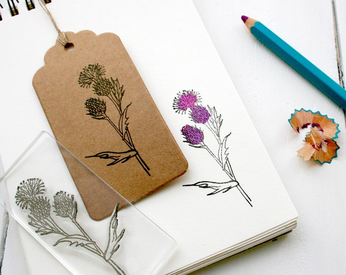 Scottish Thistle Rubber Stamp