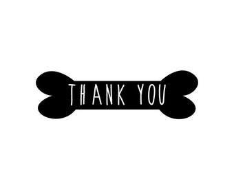 Dog Thank You - Holiday Thank you - Thank you Stamp - Pet Care - Dog Sitter - Cat Sitter - Clear Stamp - Rubber Stamp - Little Stamp Store