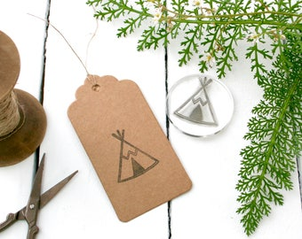 Teepee Stamp - Glamping - Camping stamp - Tent Stamp - Tipi Stamp - Native American Tipi Stamp - Stamp Tags - Clear Stamp - Little Stamp Sto