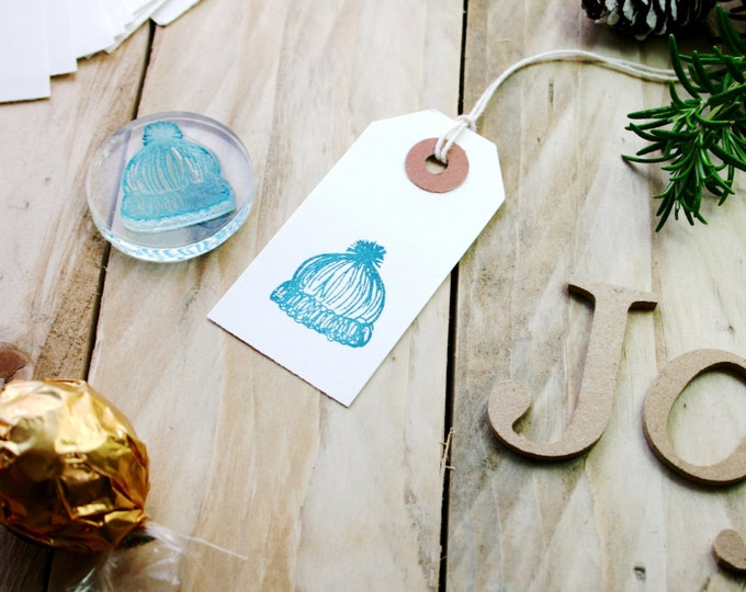 Hat Rubber Stamp
