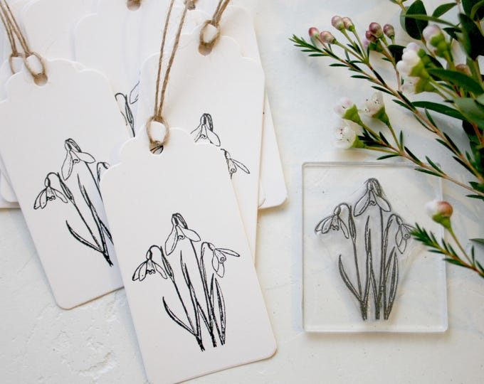 Snowdrop Rubber Stamp
