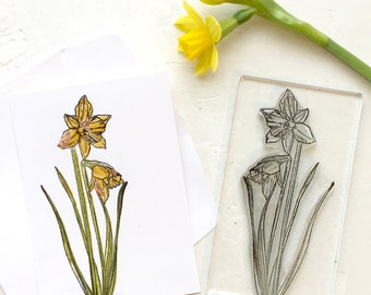 Daffodil Clear Rubber Stamp