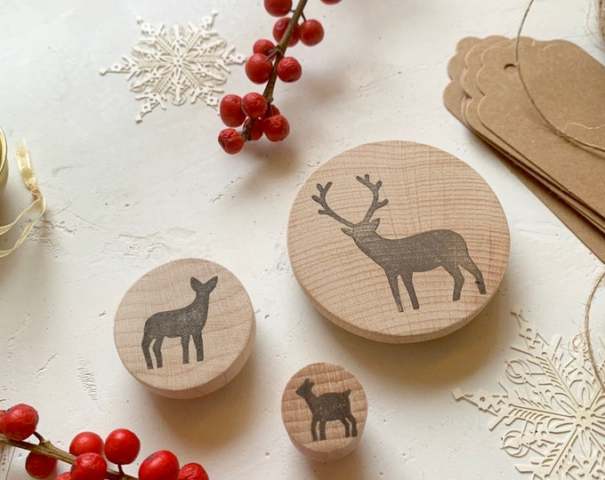 Deer Family Rubber Stamp Set