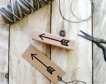 Arrow Rubber Stamp - Chevron - Arrow - Valentines Gift - Hand Carved - Arrow Gift Tag - Arrow Gift Wrap - Rubber Stamp - Little Stamp