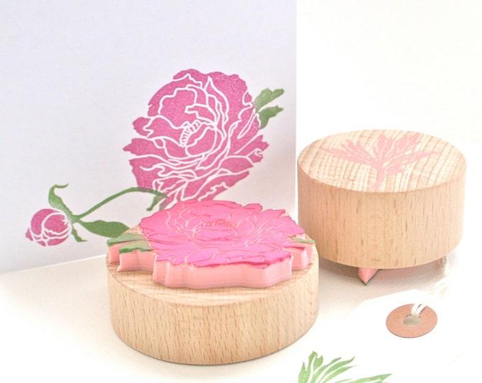 Peony Flower Stamp Set