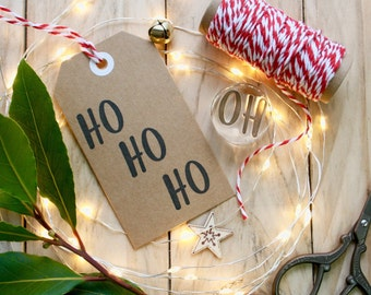 Ho Ho Ho Stamp - Christmas Ho ho ho Stamp - Clear Christmas Cheerful Stamp - Christmas Tag Stamp - Christmas Card Making Stamp - Christmas