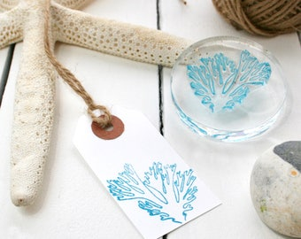 Seaweed Rubber Stamp