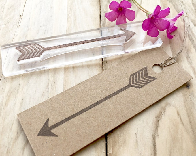 Chevron Arrow Rubber Stamp