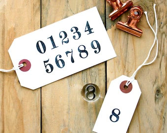 Number Rubber Stamps