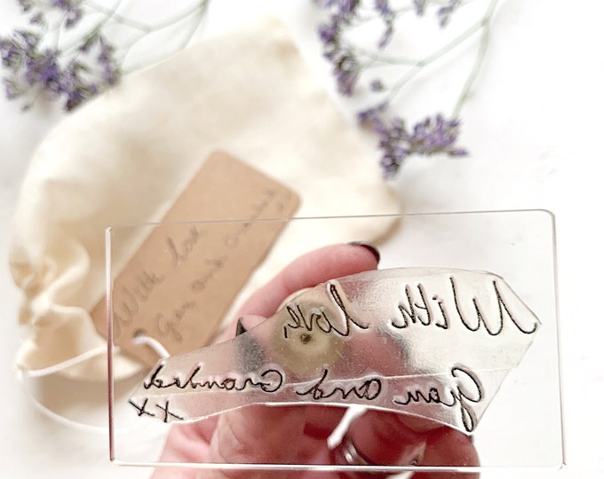 Personalised Message Rubber Stamp