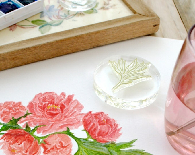 Peony Flower Crystal Clear Stamp Set