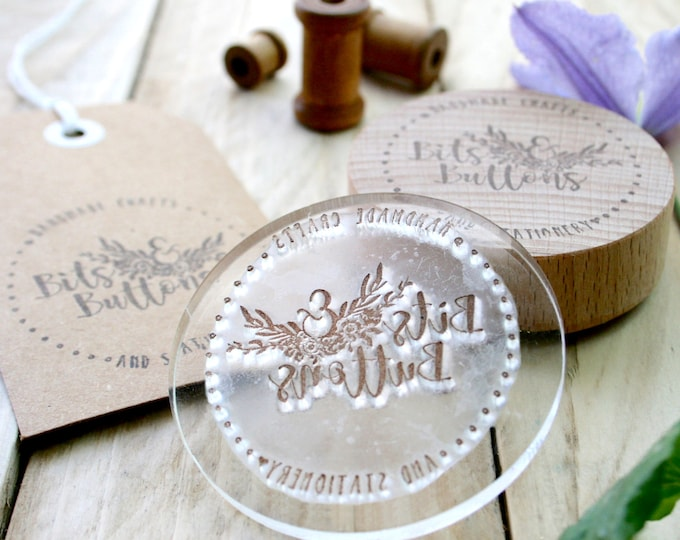 With Compliments Slip Stamp - Made to Order Stamp - Custom Order Stamp - Custom Stamps - Logo Design - Gift For Him - Gift For Her