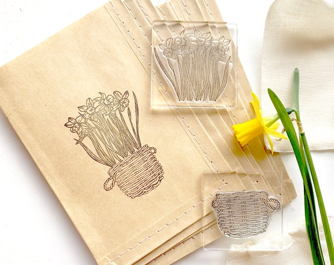 Bunch of Daffodils Clear Rubber Stamp