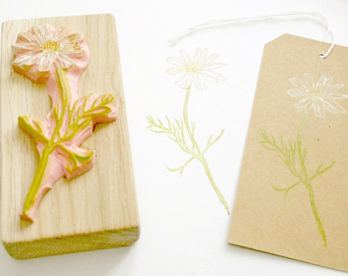Chamomile Rubber Stamp