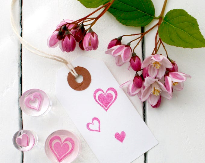 Hearts - Rubber Stamp Set