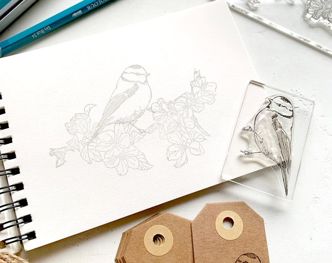 Apple Blossom Clear Rubber Stamp