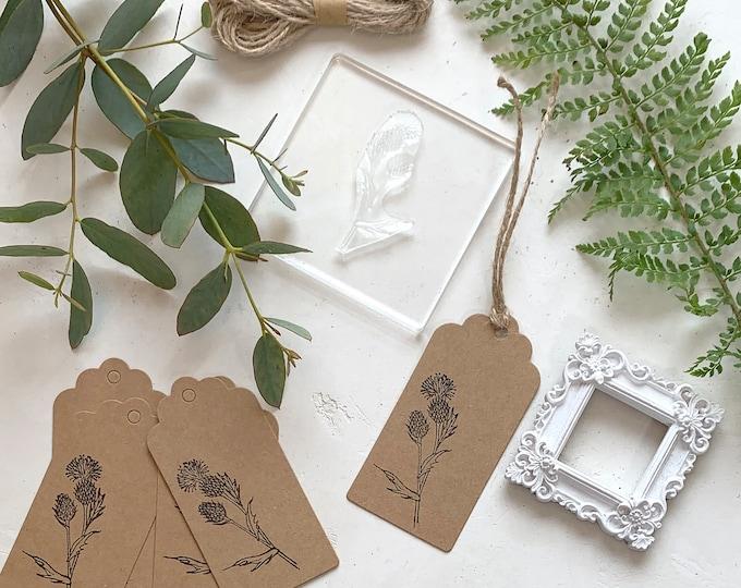 Thistle Wild Flower Rubber Stamp