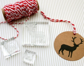 Stag Family Stamp Set - Clear Stamps - Deer Stamp - Bambi Stamp - Stag Stamp Set - Stag Stamp - Little Stamp Store