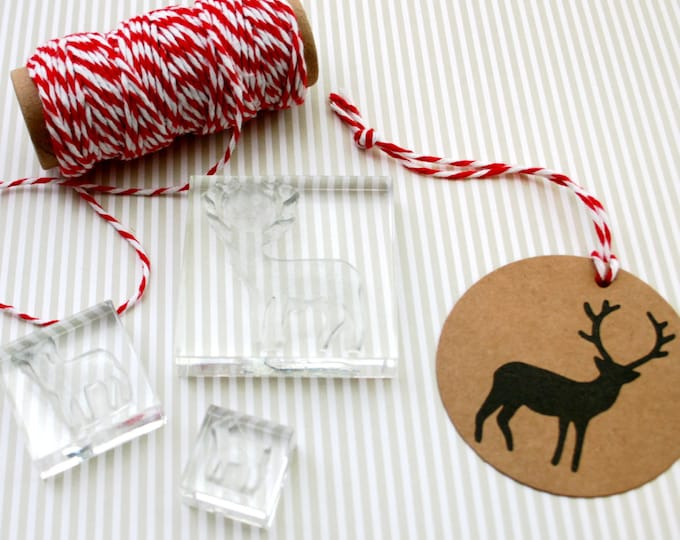 Reindeer Stamp Set - Clear Stamps - Deer Stamp - Bambi Stamp - Stag Stamp Set - Stag Stamp - Little Stamp Store