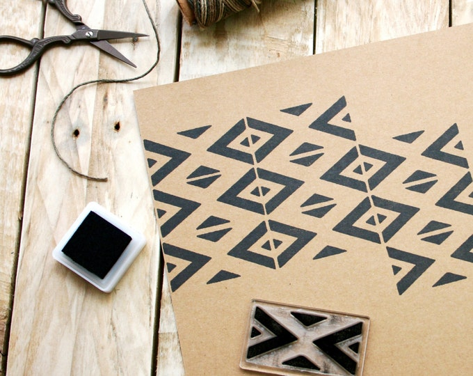Repeat Pattern Rubber Stamp