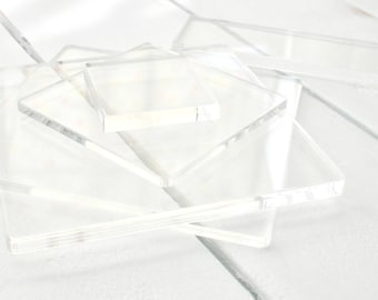 Clear Acrylic Stamp Block