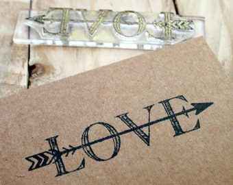 Arrow Love Rubber Stamp