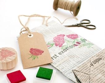 Rose Rubber Stamp Set