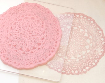 Doily Hand Carved Rubber Stamp