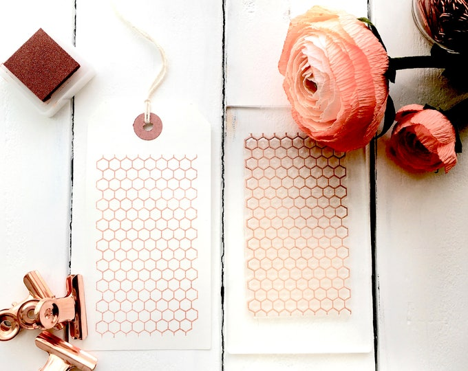 Honeycomb Hexagon Clear Rubber Stamp