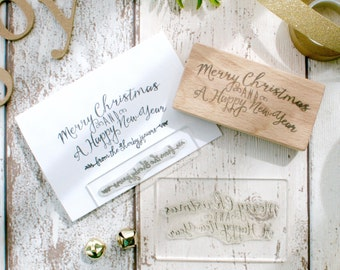 Personalised Card Making Rubber Stamp