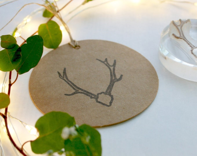 Native Stag Skull Stamp