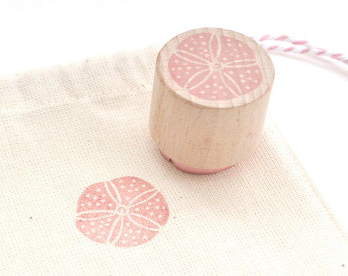 Urchin Rubber Stamp - Sea urchin - Rubber Stamp - Urchin - Seaside Scrapbook - Hand Carved Rubber Stamp - Little Stamp Store - Seaside