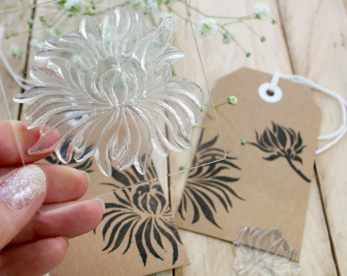 Chrysanthemum Flower Rubber Stamps