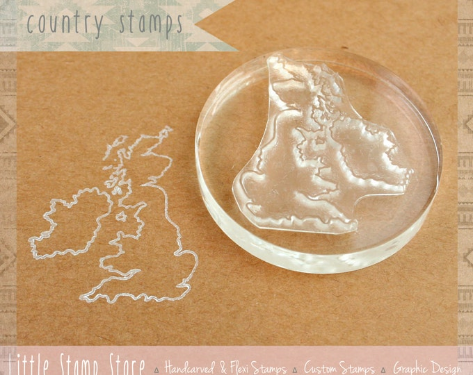 Customisable Country Rubber Stamp