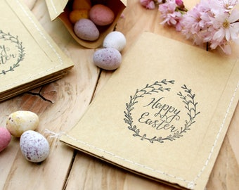 Happy Easter Wreath Rubber Stamp
