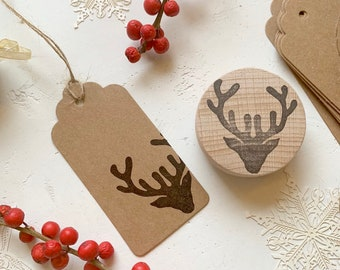 Stags Head Rubber Stamp