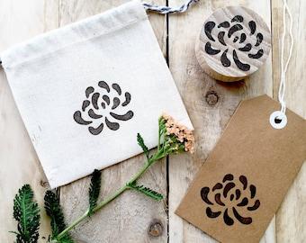 Washi Paper Flower Rubber Stamp
