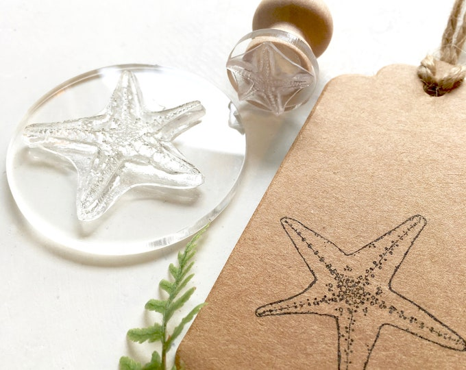 Starfish Rubber Stamp