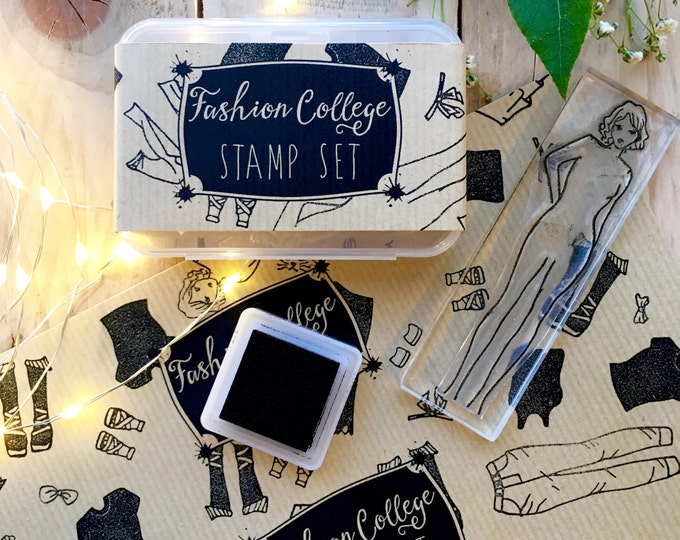 Fashion Design Rubber Stamp
