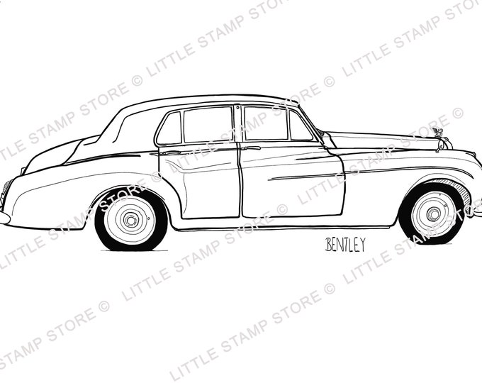 Bentley Classic Car Rubber Stamp