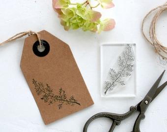 Flower Sprig Rubber Stamp