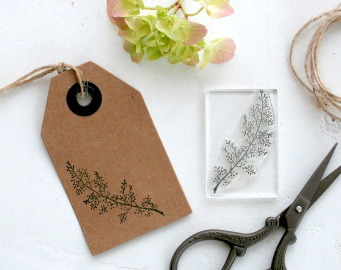 Flower Sprig Rubber Stamp