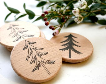 Woodland Tree Stamp - Christmas Tree Stamp - Pine Tree Stamp - Tree Stamp - Clear Stamp - Crystal-Clear Stamp by Little Stamp Store