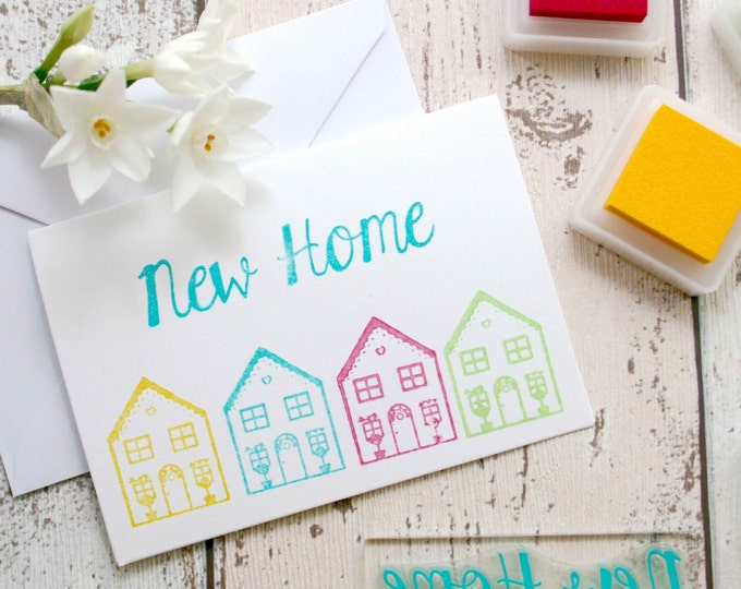 New Home - New Home Stamp - Word Stamp - Welcome - New Home Card - Flexi-Clear Stamp - Little Stamp Store