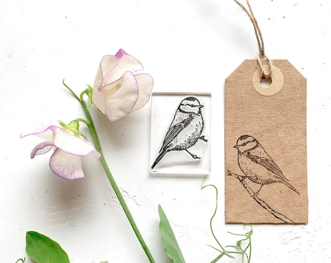 Blue Tit Clear Rubber Stamp