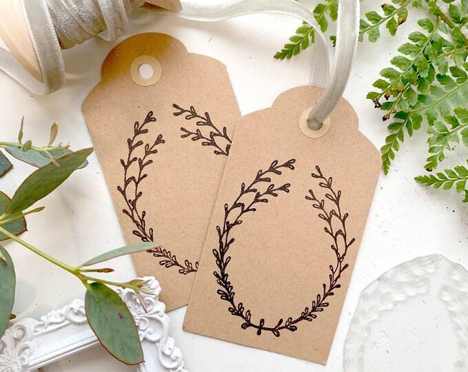 Eucalyptus Wreath Rubber Stamp