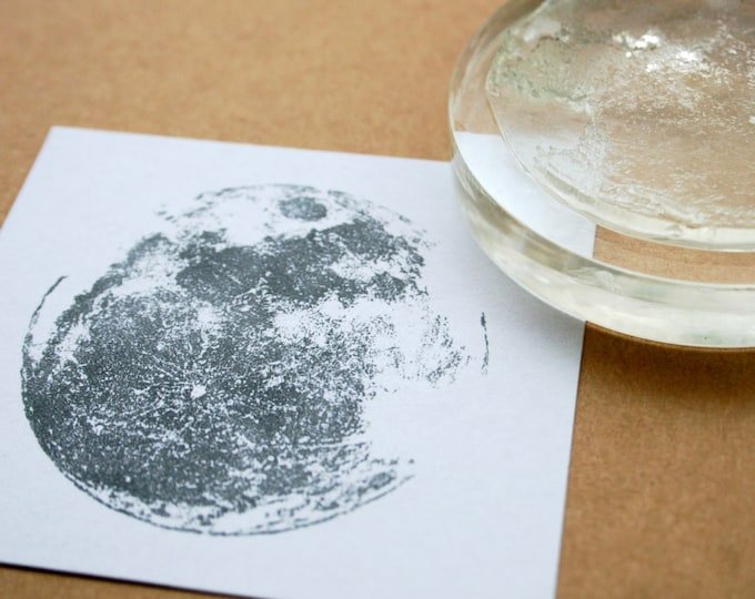 Moon Rubber Stamp