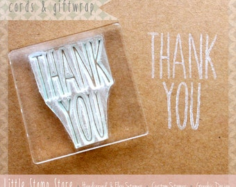Thank You Stamp - Thank You Card - Thank you tags - Personalised Cards - Clear Stamp - Thankyou Stamp - Little Stamp Store